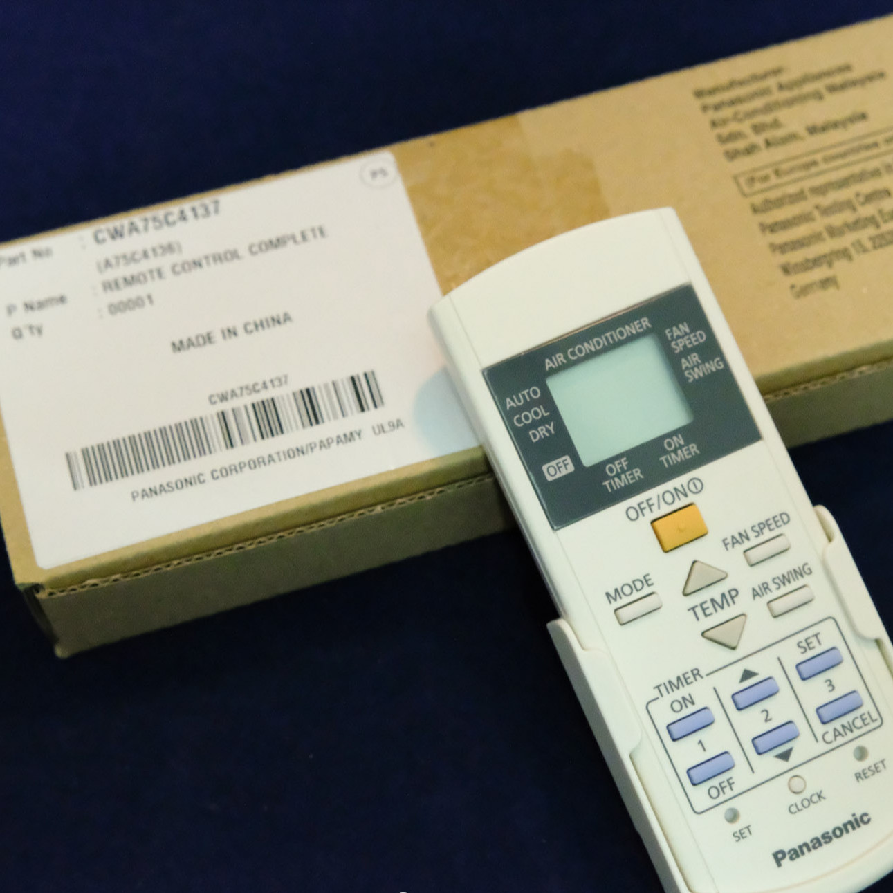 Điều khiển chính hãng Điều hoà Panasonic Model CS-KC12NKH-8