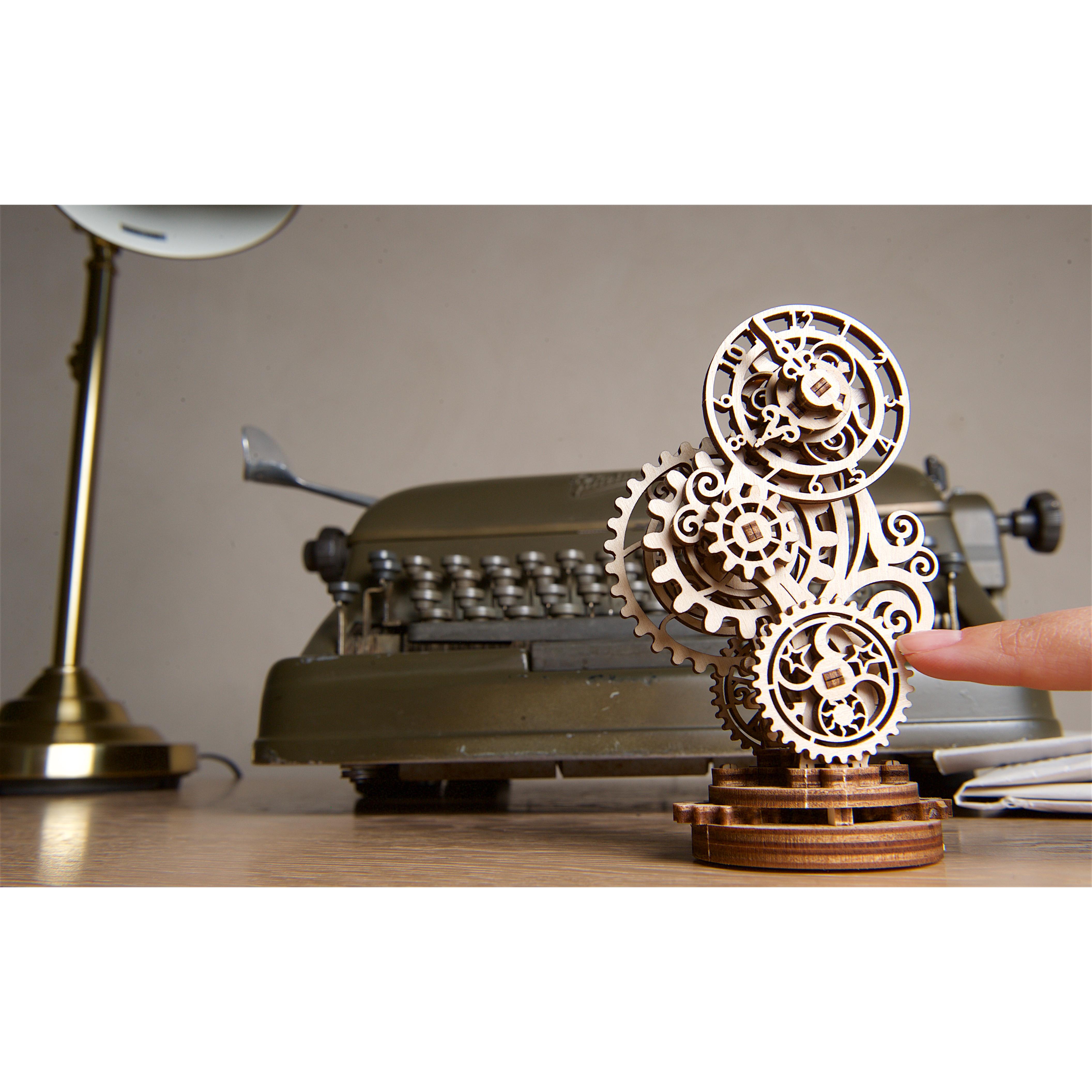 Mô hình cơ khí - Ugears Steampunk Clock - Đồng hồ Steam, Hàng chính hãng UGEARS, nhập khâu nguyên bộ từ EU, mô hình lắp ráp 3D, DYI