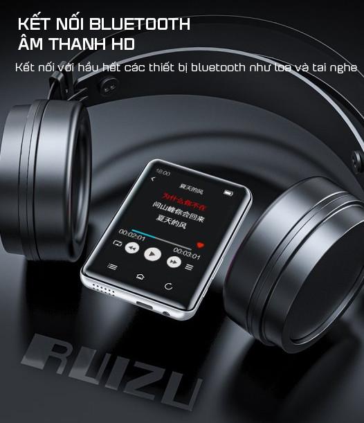 Máy Nghe Nhạc MP3 Màn Hình Cảm Ứng Bluetooth Ruizu D66 Bộ Nhớ Trong 16GB - Hàng Chính Hãng