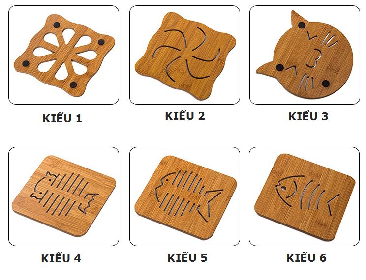 Lót nồi gỗ hình thú đáng yêu phong cách Nhật Bản 1