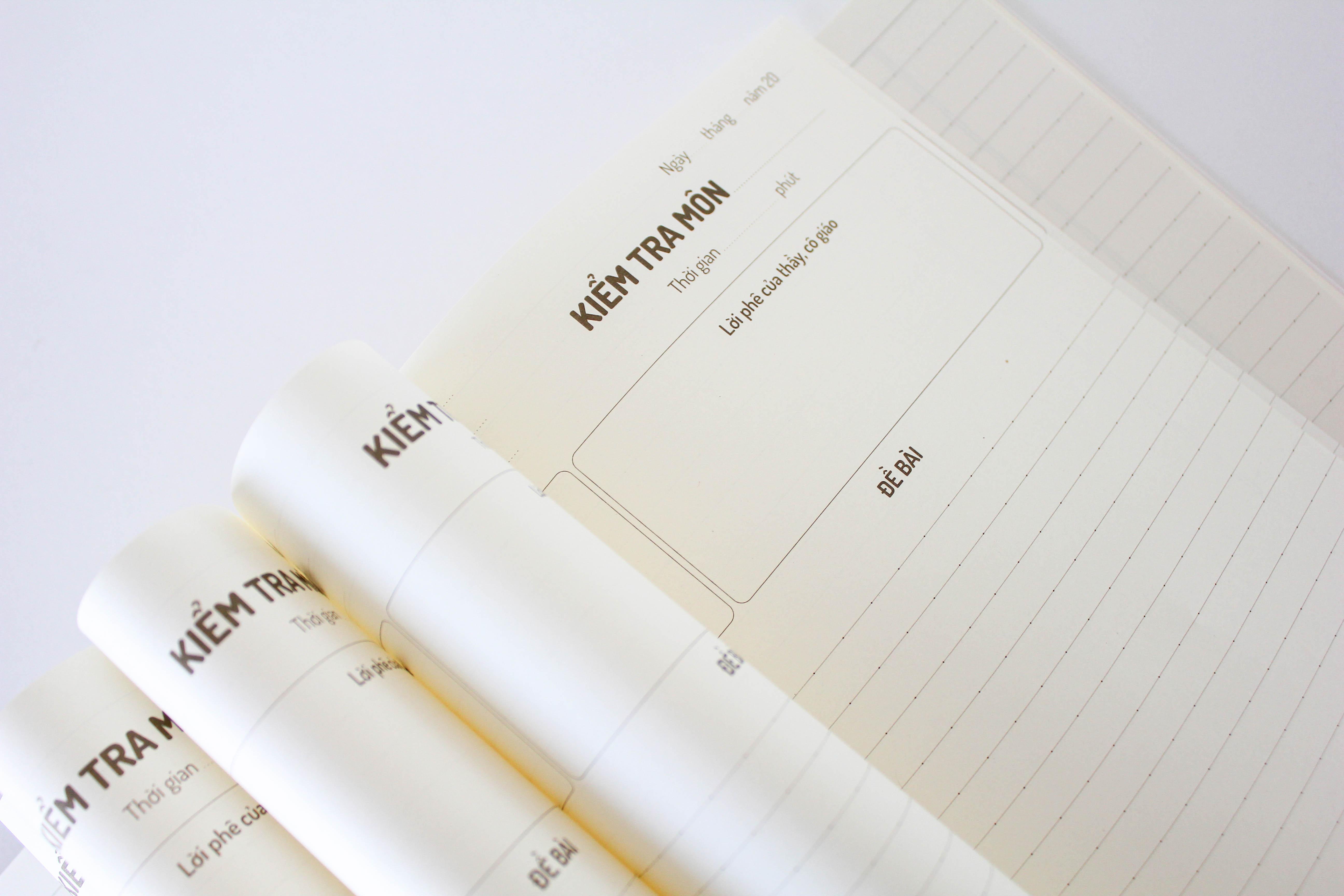 Tập 15 giấy kiểm tra đôi - Ruột kẻ ngang chấm - Giấy kiểm tra Crabit - Combo 5 cuốn