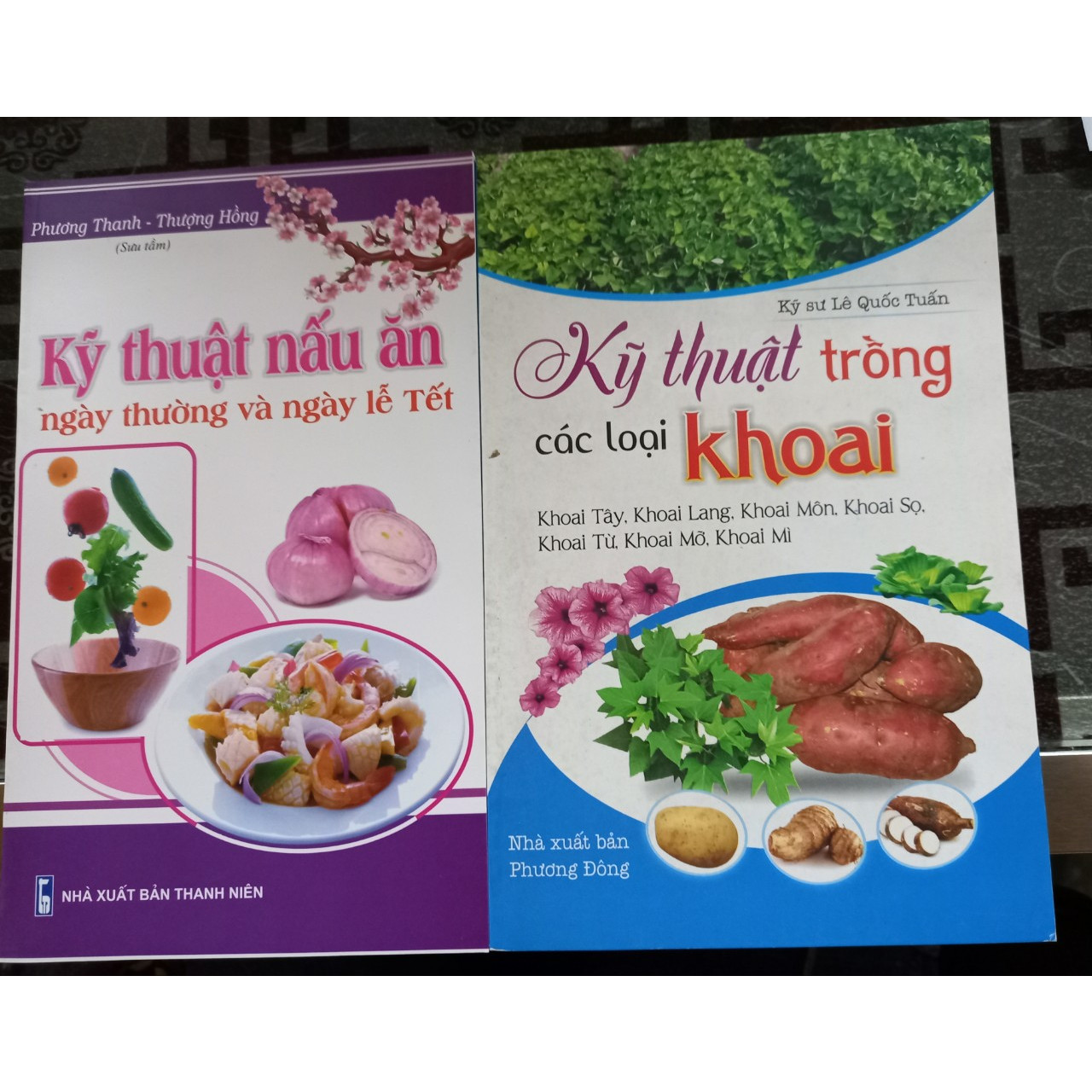 Combo 2 cuốn Kỹ thuật trồng các loại khoai, kỹ thuật nấu ăn ngày thường và ngày lễ tết