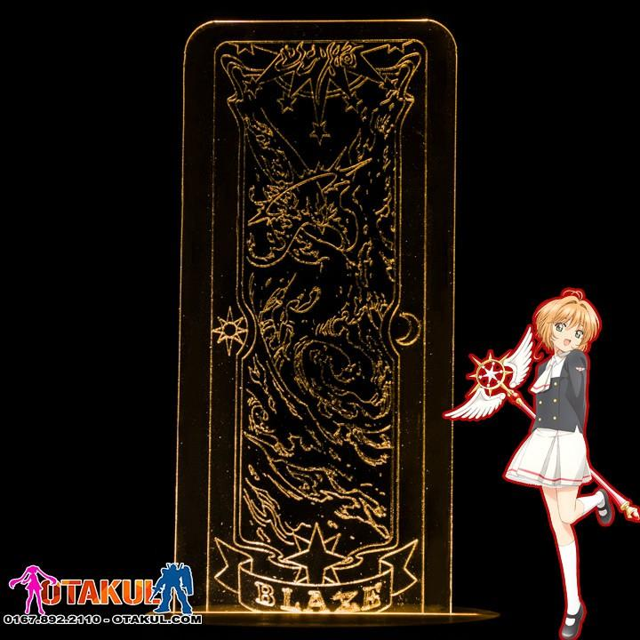 Đèn Ngủ Sakura Clear Card - BLAZE -Vàng