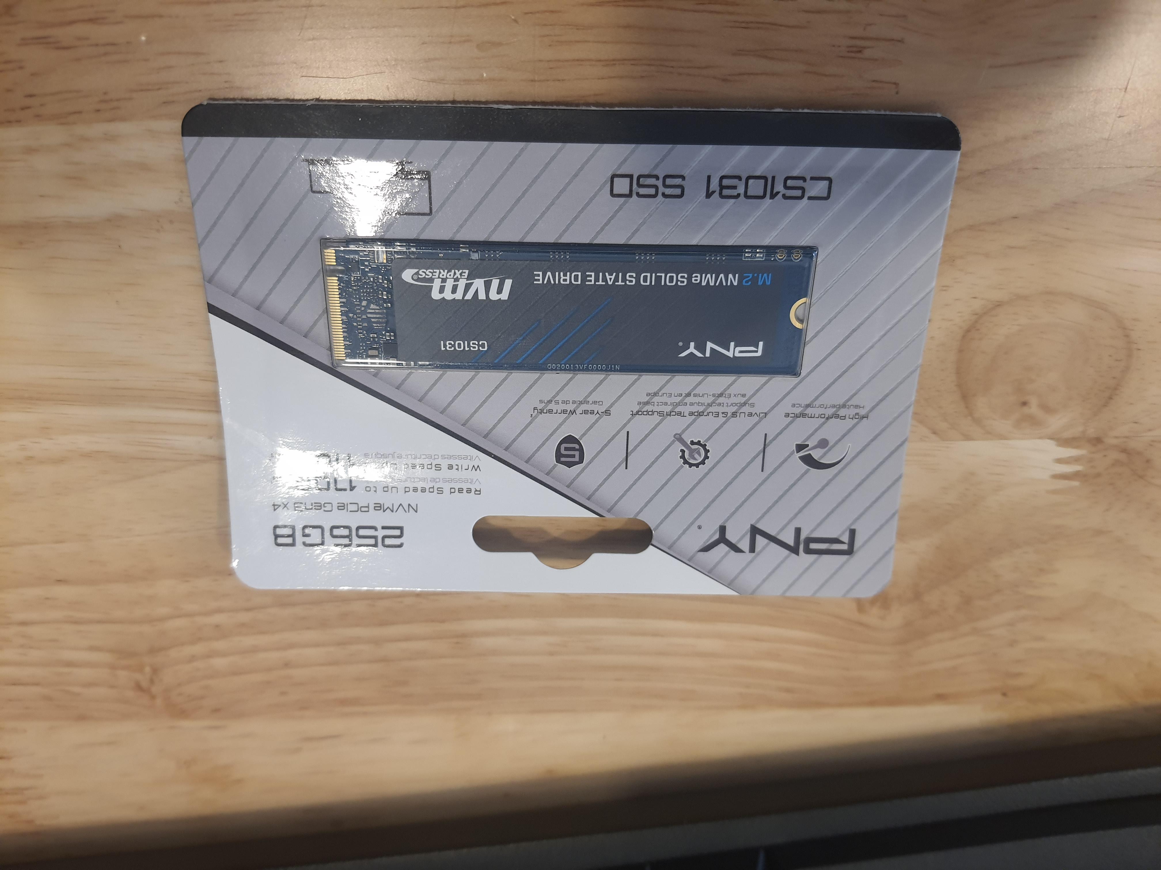 Ổ cứng SSD PNY 256GB CS1031 M.2 2280 NVMe Gen3x4 hàng chính hãng / hàng nhập khẩu