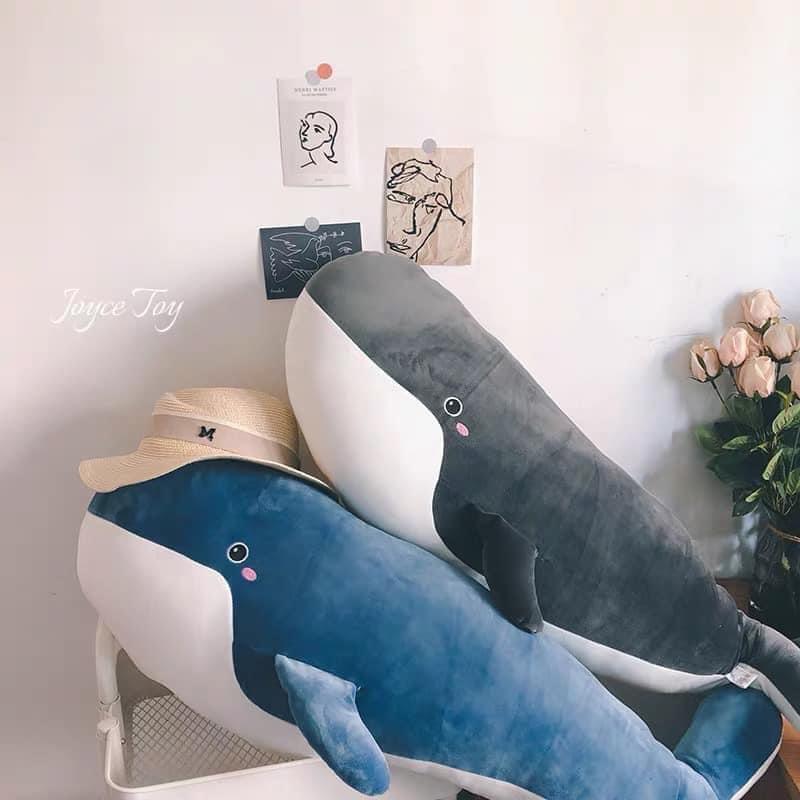 Gấu bông cá voi siêu to khổng lồ hàng cao cấp 2 lớp lót bông tách biệt có thể tháo ra giặt kích thước 50cm-1m5 NEOCI