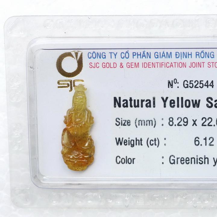 Phật Quan Âm Sapphire Vàng Thiên Nhiên