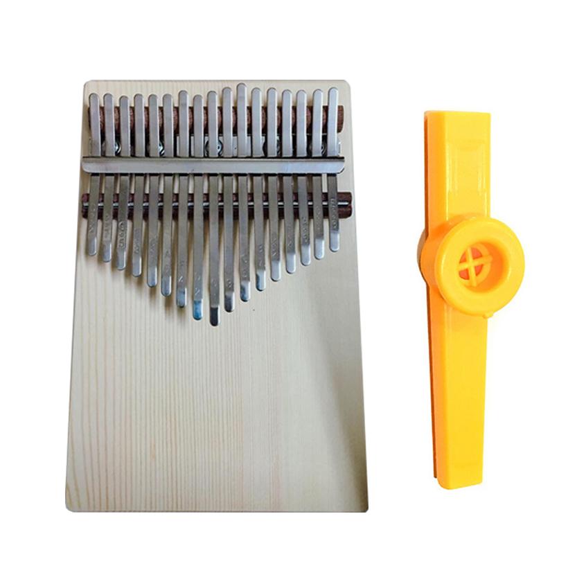 Đàn Kalimba 17 phím Gỗ Mahogany Khối chữ Tặng Kèm Kèn Kazoo