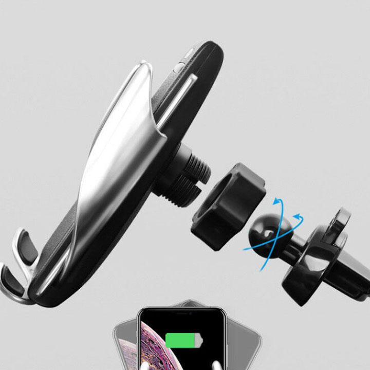 Giá Đỡ Kiêm Sạc Không Dây Cho Điện Thoại Trên Ô Tô Smart Sensor S5 Thông Minh