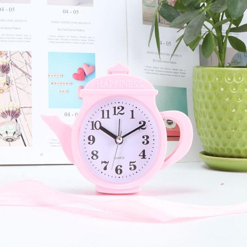 Đồng hồ để bàn hình ấm trà