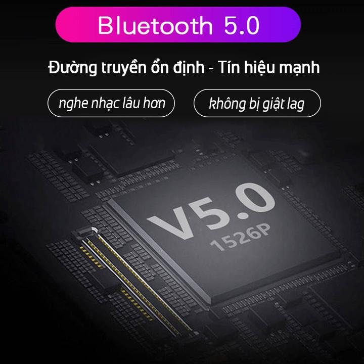 Tai nghe bluetooth 5.0 cảm biến vân tay TWS4 - 2 tai nghe, có hộp sạc