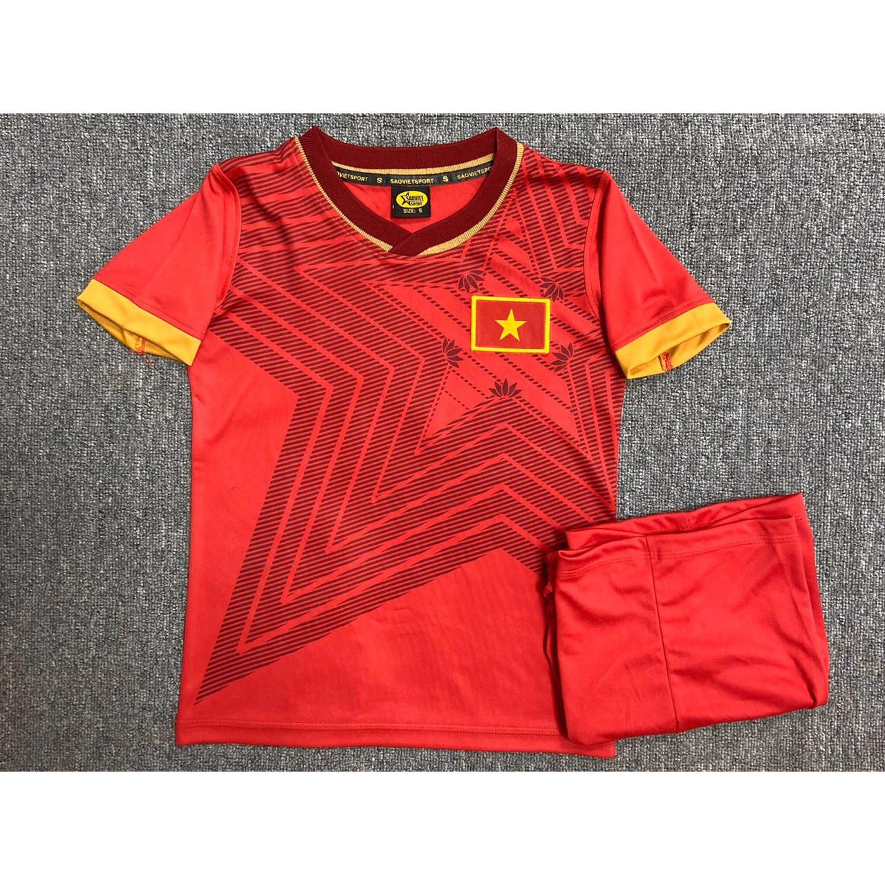 Bộ quần áo đá bóng trẻ em tuyển Việt Nam năm 2020