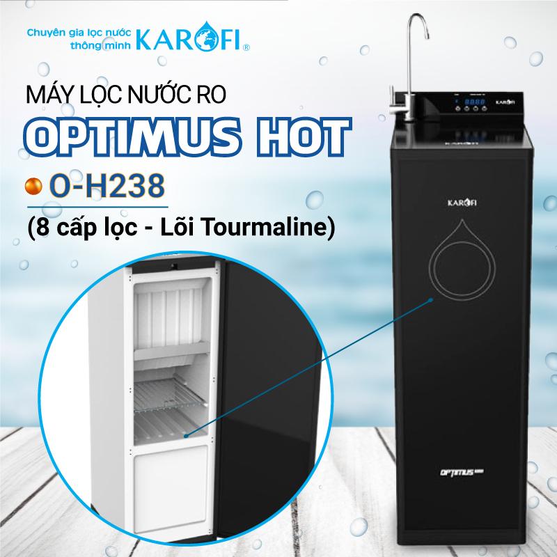 Máy lọc nước Karofi OPTIMUS HOT+ O-H238 - hàng chính hãng