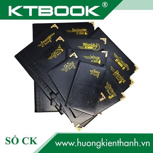 Sổ ghi chép Bìa Da Đen KTBOOK cao cấp KT 6 dày dòng kẻ ngang khổ 13 x 20 cm - 200 trang