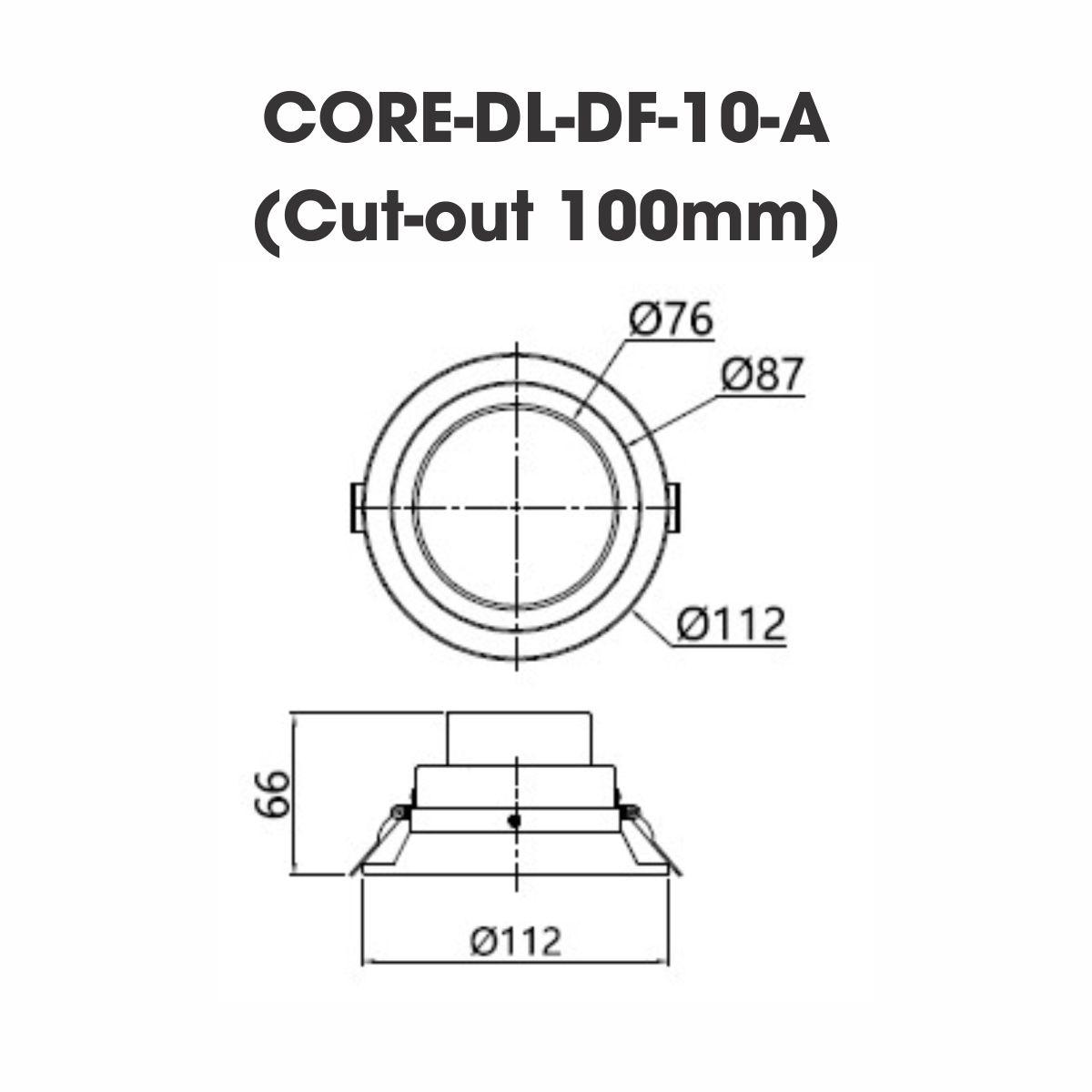 Đèn LED Downlight Module OSRAM CORE-DL-DF-10 9.8W CRI>80 Tuổi thọ: 50,000 giờ
