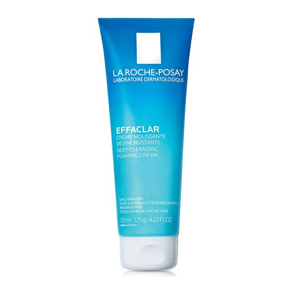 Sữa rửa mặt da dầu, mụn Effaclar Deep Cleansing Foaming Cream La Roche-Posay 125ml (Bao bì mới)