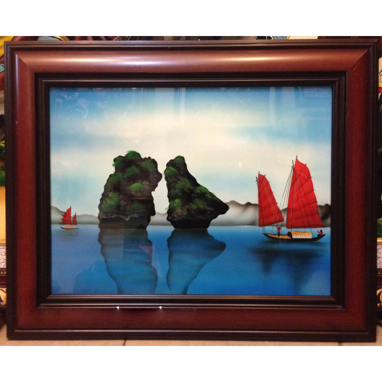 Tranh sơn mài, Vịnh Hạ Long -SM037-250