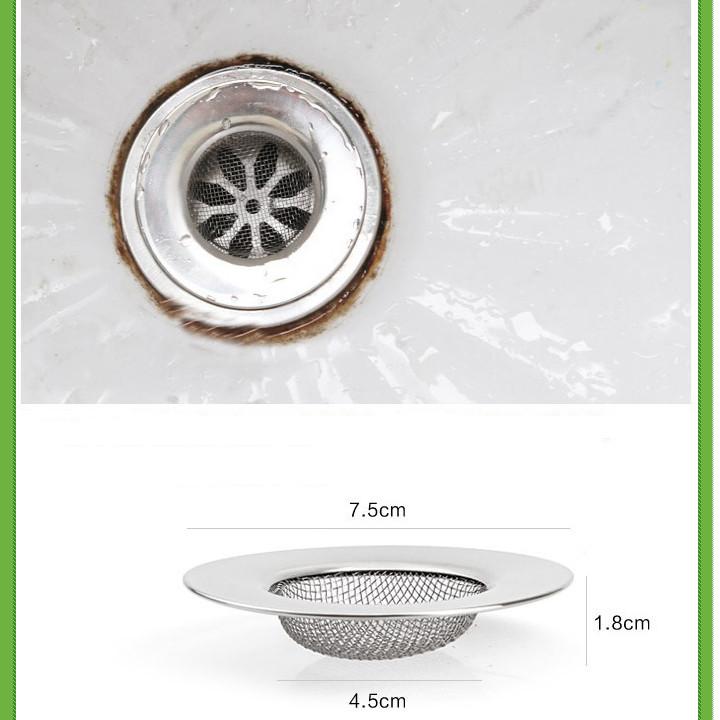 Set 2 lọc rác inoxbồn rửa chén, chậu rửa bát, nhà tắm thông minh cao cấpchống gỉ loại tròn tiện ích
