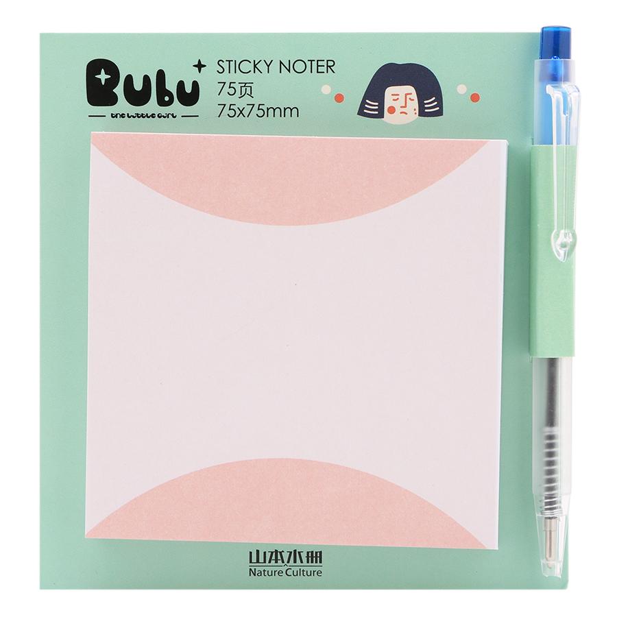 Giấy Note Vuông - Kèm Bút Bubu BLTP-0053