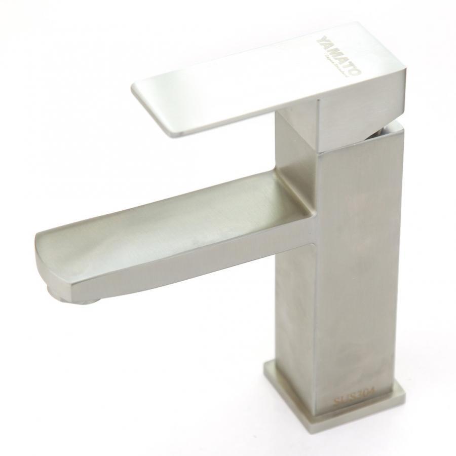 Vòi chậu rửa (lavabo) nóng lạnh vuông Inox 304 Yamato LNI05