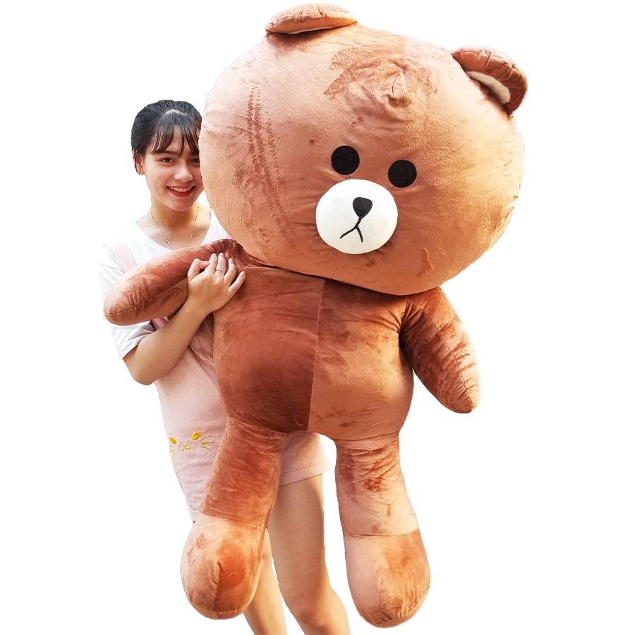Gấu Bông Brown 1m4 khổ vải cao 1m2 dễ thương