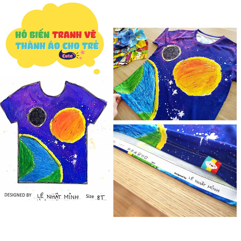 Hộp kit sáng tạo - In tranh vẽ thành áo
