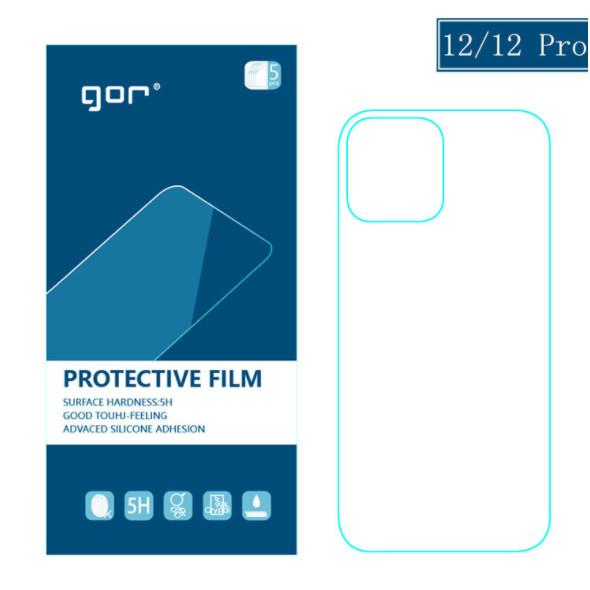 Bộ 5 dán dẻo Gor cho iPhone 12 Pro Max, 12 Pro, 12, 12 Mini bảo vệ máy ( 5 miếng mặt sau) hàng nhập khẩu