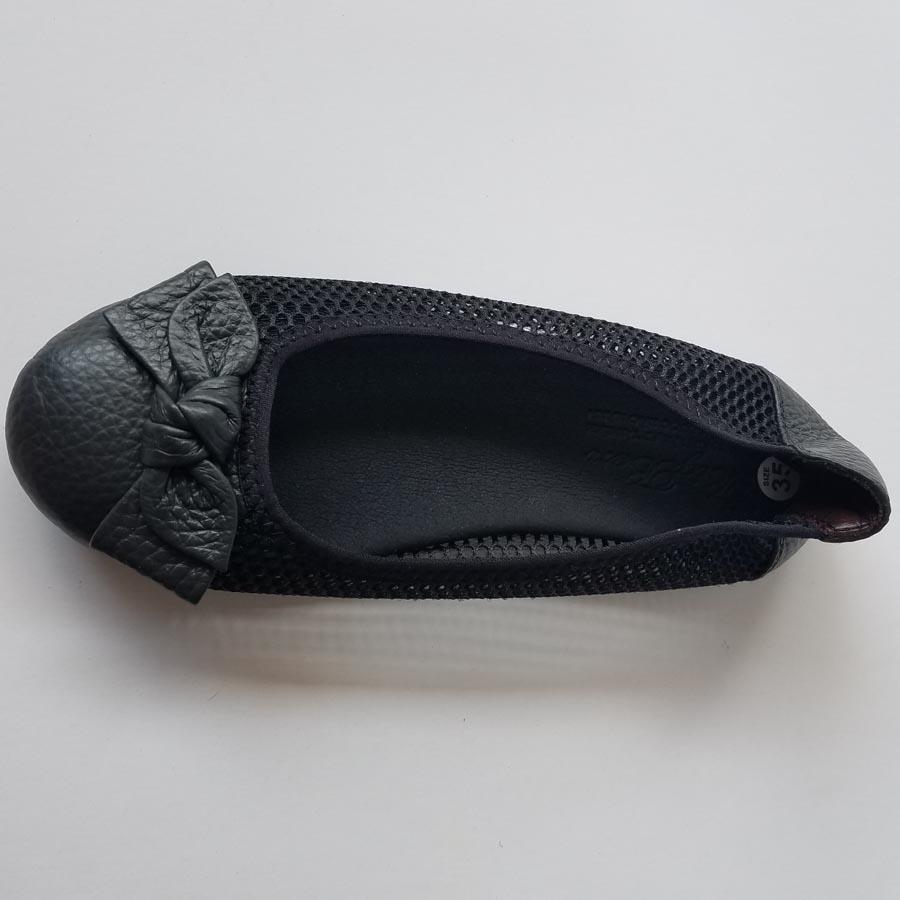 Giày Búp Bê Nữ Da Bò Thật Cao Cấp HKT BB01
