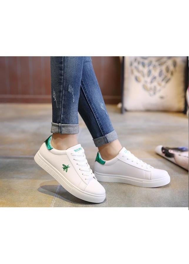 Giày Sneaker Nữ Thời Trang Yamet SN33668X Trắng Phối Xanh