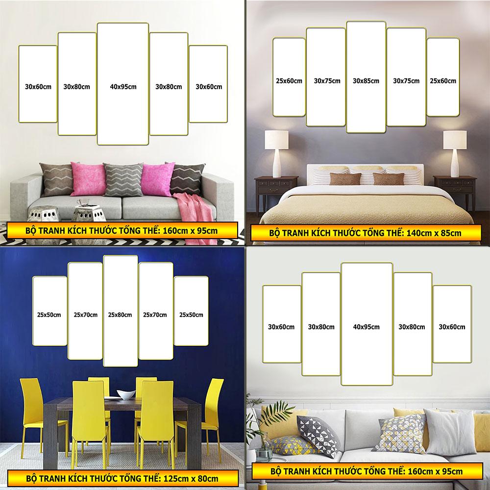 Tranh treo tường trang trí phòng khách, phòng ngủ, phòng ăn:4427L15F