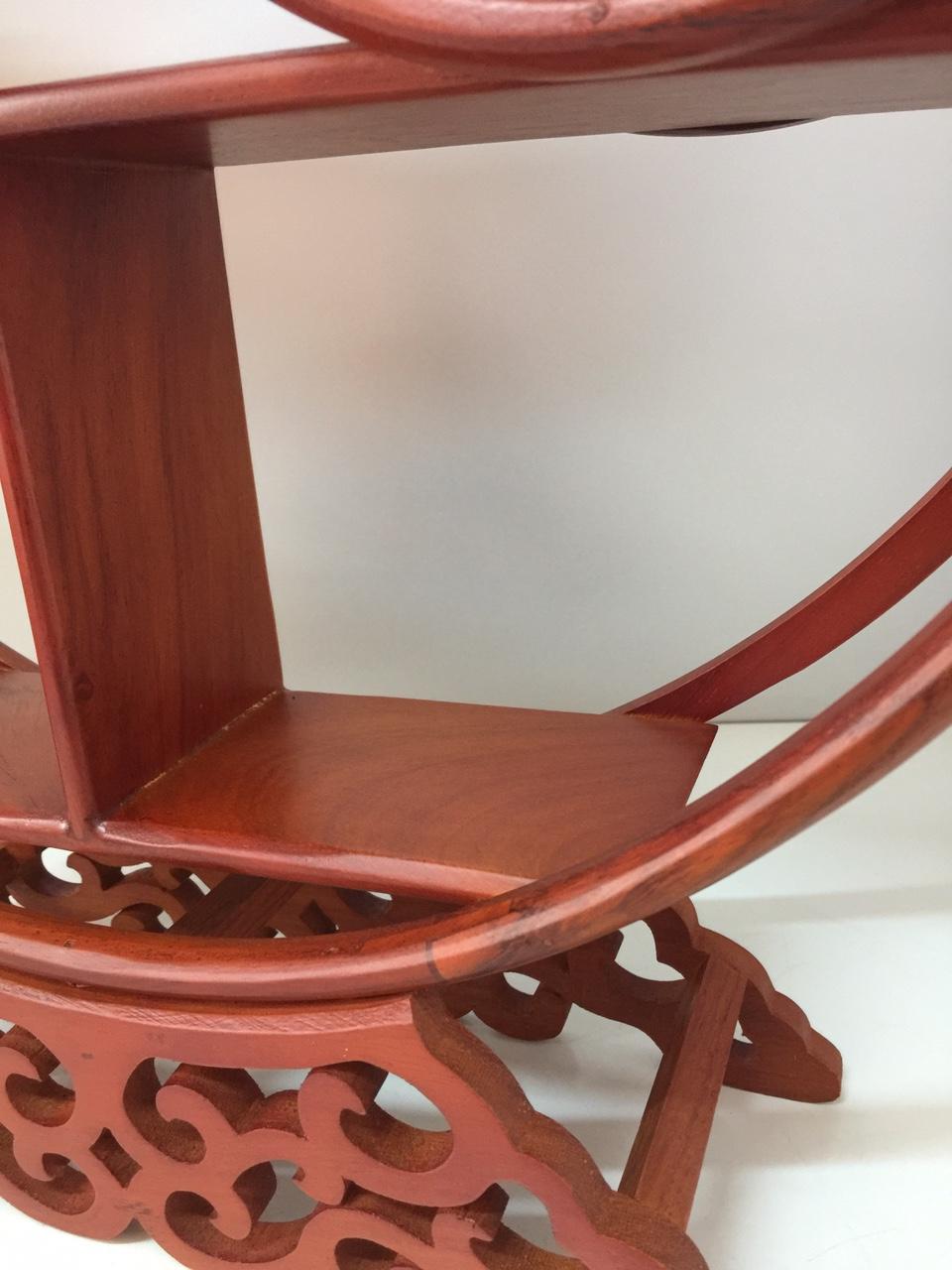 Kệ gỗ trang trí ( gỗ gõ đỏ) - ngang 42, sâu 11, cao 48cm