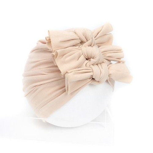 Nón turban cotton kết 3 nơ cho bé