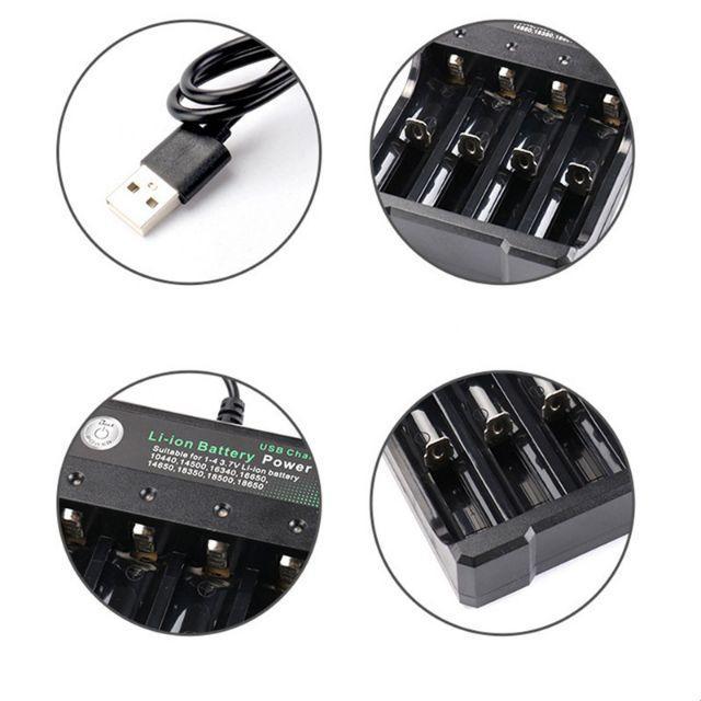 Bộ sạc 4 Pin Li-ion cho 18650 18500 16340 14500 26650