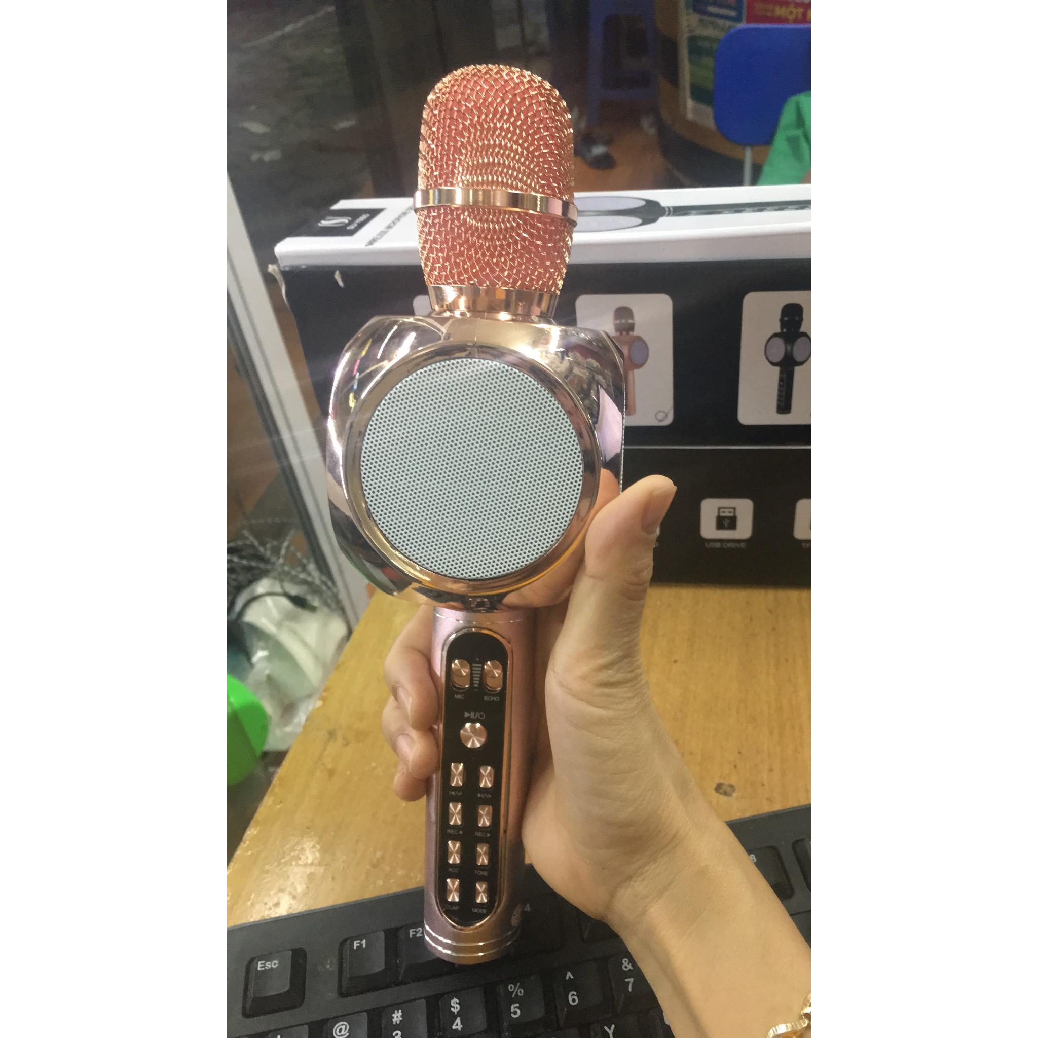 Mix hát karaoke kiêm loa nghe nhạc Bluetooth YS90 ( giao mầu ngẫu nhiên)