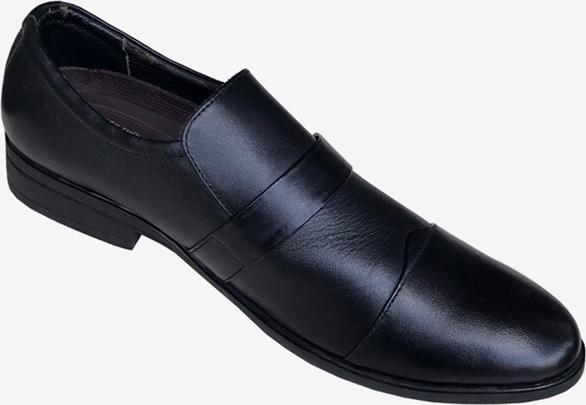 Giày tây nam Trường Hải đen da bò cao cấp đế cao su GT0112
