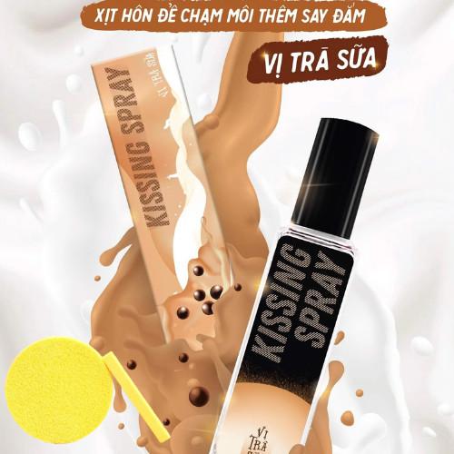 Kissing Spray Vị Trà Sữa chai xịt 20ml - LOLI & THE WOLF, Tặng Kèm Mút Rửa Mặt