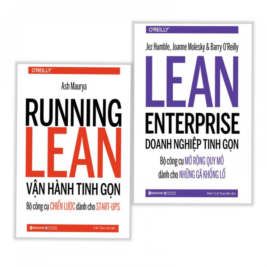 Combo sách khởi nghiệp thật dễ dàng: RUNNING LERARN vận hành tinh gọn + LEARN ENTERPRISE doanh nghiệp tinh gọn - Bộ công cụ chiến lược dành cho start- up- Tặng kèm bookmark thiết kế