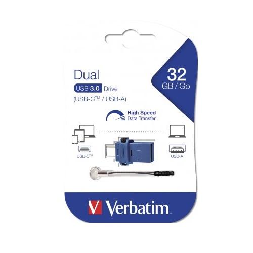 USB Verbatim OTG Type C USB 3.0 32GB - Hàng chính hãng