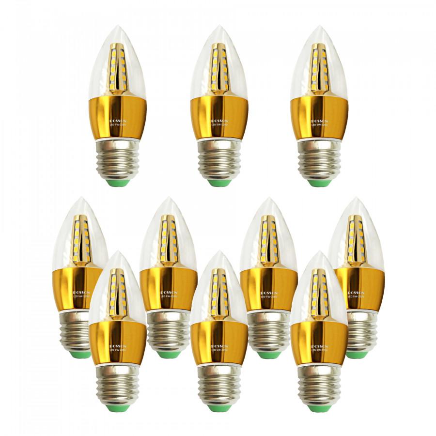 10 Bóng đèn Led nến 5w quả nhót đuôi E27 sáng trắng Posson LCP-5E27