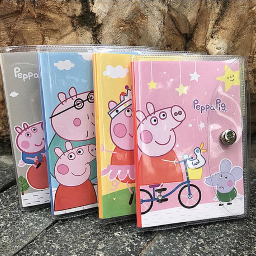Sổ vở kế hoạch hoạt hình kèm bút bìa nhựa Peppa Pig - 1 cuốn (giao ngẫu nhiên)