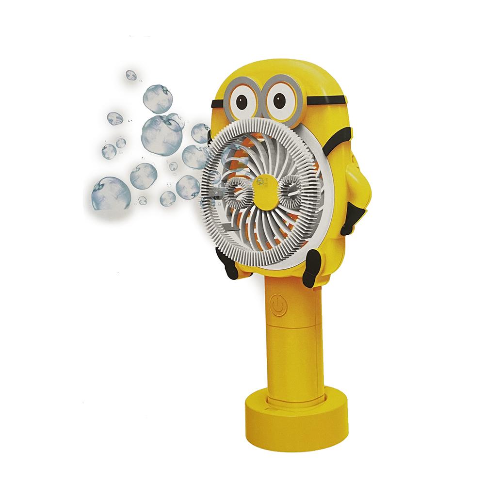 Quạt mini hình thú cho bé - Tích hợp đèn led - Tích hợp khung thổi bong bóng xà phòng - Giao hình ngẫu nhiên