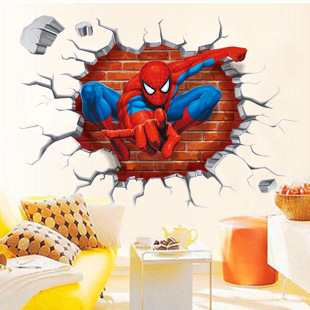 Decal dán tường người nhện 3D