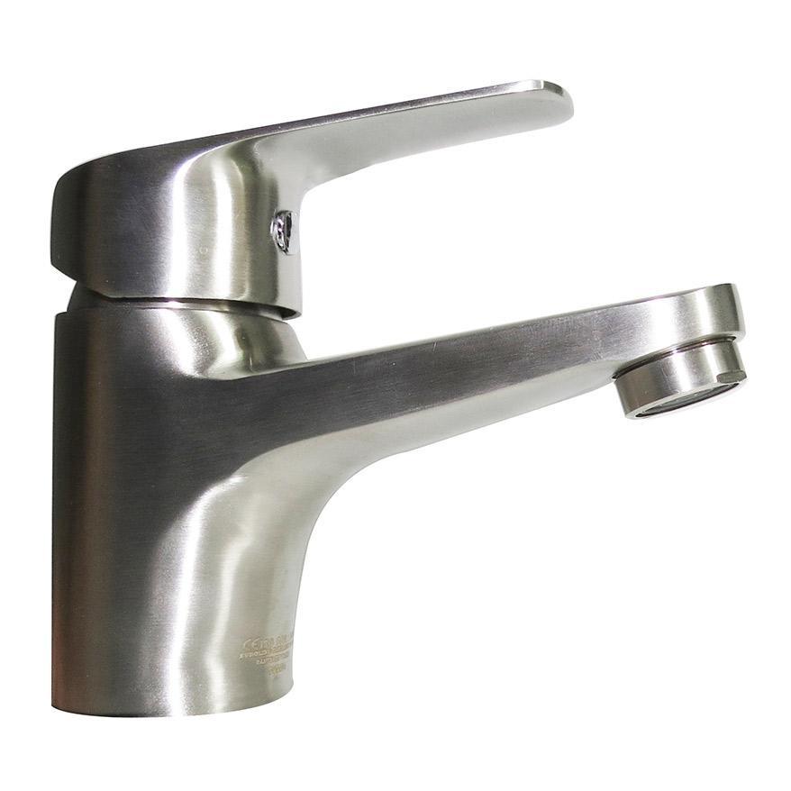 Vòi Lavabo nóng lạnh Inox SUS 304 Eurolife EL-1402 ( Trắng vàng )