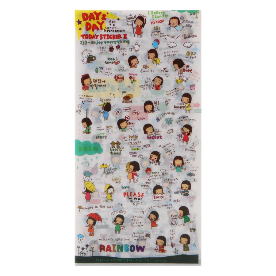 Bộ 6 Tấm Sticker Dán Trang Trí - Day And Day