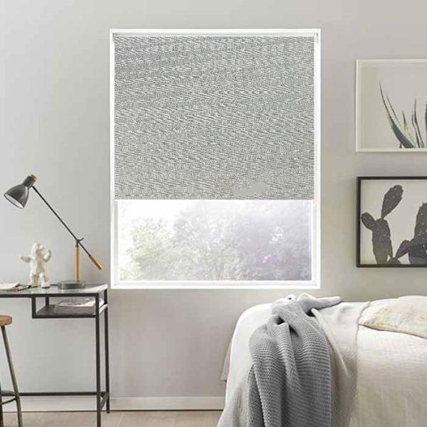 Rèm cuốn cao cấp nguyên bản - ngang|rộng cố định 1m - nguyên thanh treo - mã vải MC105