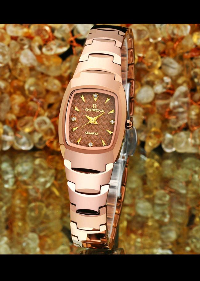 Đồng hồ nữ thời trang chống nước cao cấp RZY-06V kèm hộp đựng và bấm đốt
