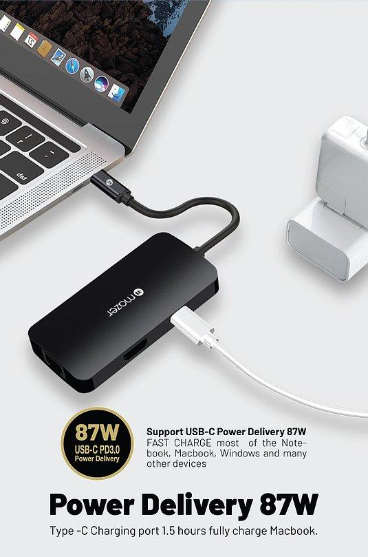 Cổng Chuyển Đổi Mazer USB-C 6-in-1 HUB - hàng chính hãng
