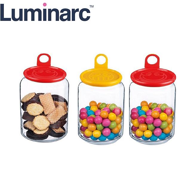 Bộ 3 Hũ Thuỷ Tinh Luminarc Rondo Smile (Màu Ngẫu Nhiên)