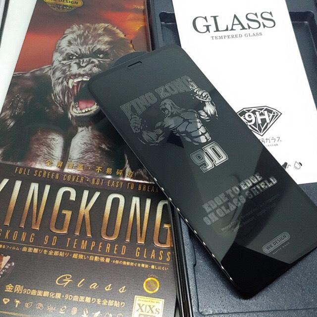Kính Cường Lực KingKong 9D Full Màn Trong Suốt Dành Cho iPhone X, XR, XS, XS Max, iPhone 11, 11Pro, 11Pro Max, iPhone 12Mini, 12-12Pro, 12Pro Max - Full Hộp Sắt Cao Cấp - Hàng Chính Hãng