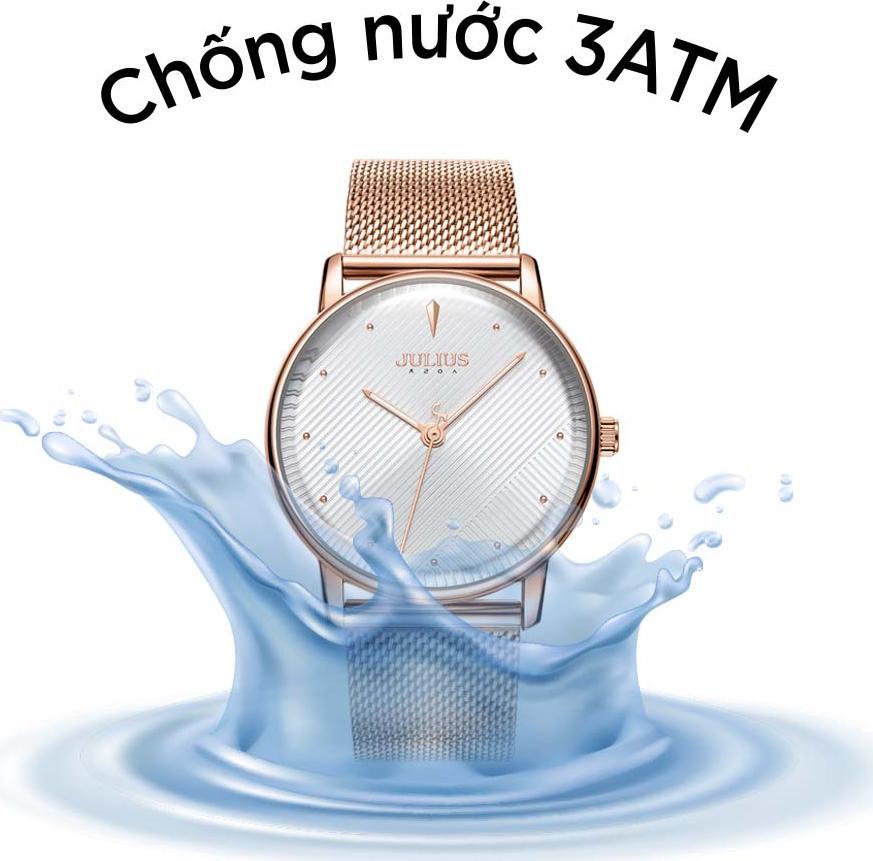Đồng Hồ Nam Julius Hàn Quốc JA-1238 Dây Thép