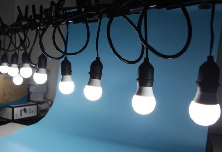 Dây đèn bóng led búp 10 mét 20 bóng 5w, đèn trang trí hàng chính hãng.
